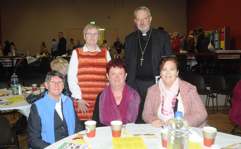 Hilary Finnegan, Eileen Grady, Marie Barlow, Sharon Timothy, Bishop K.Doran