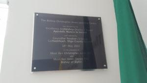 Bishop Jones Learning Centre Plaque