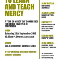 Year of Mercy Education Conference Poster