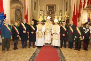 i sindaci dei comuni con patrono s. colombano con i concelebranti