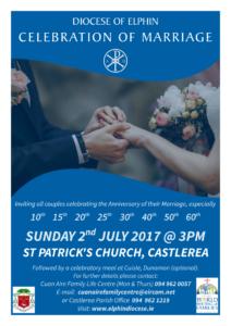 Diocesan Celebration of Marriage @ St Patrick's Church, Castlerea | Castlerea | County Roscommon | Ireland