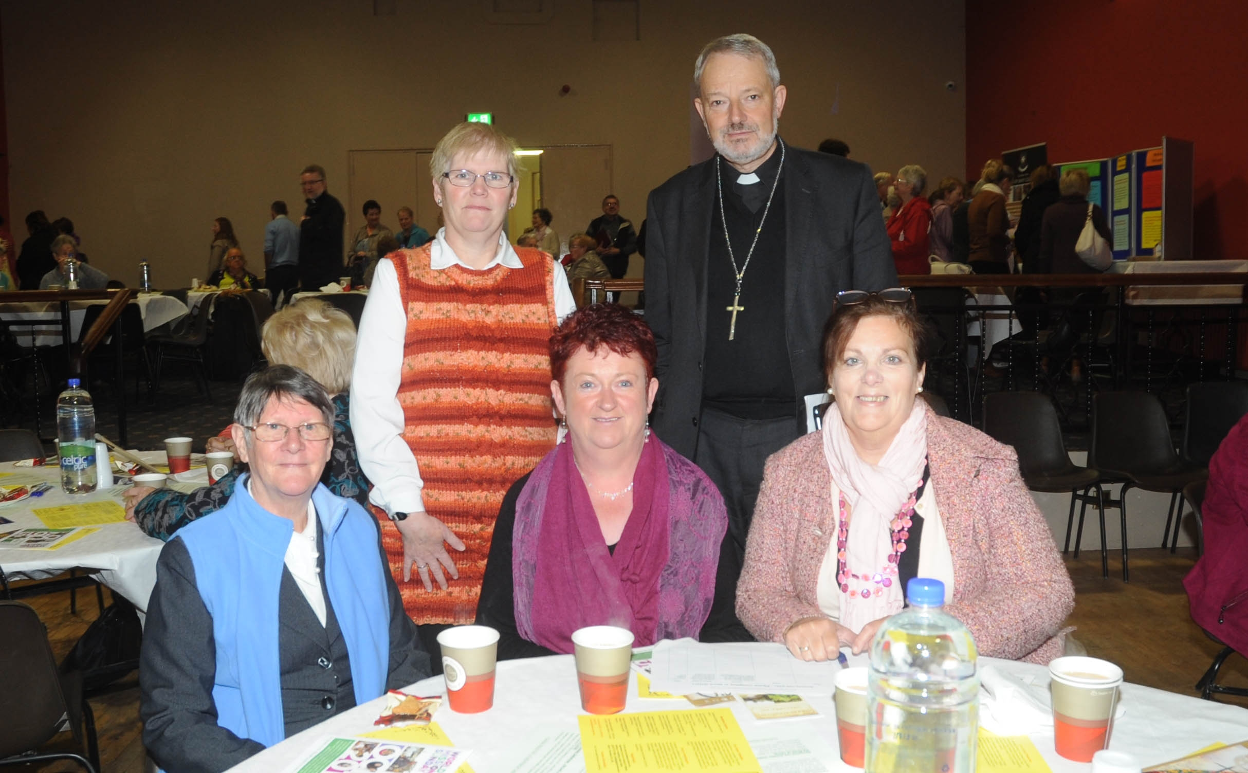 Hilary Finnegan, Eileen Grady, Marie Barlow, Sharon Timothy, Bishop K.Doran