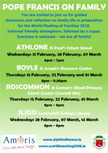 Pope Francis on Family - BOYLE @ St Joseph's Resource Centre, Boyle | County Roscommon | Ireland