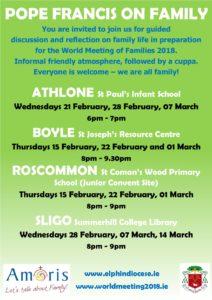 Pope Francis on Family - ATHLONE @ St Paul's Infant School, Athlone | Athlone | County Westmeath | Ireland
