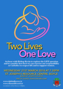 Two Lives, One Love - Information Evening with Bishop Kevin in Boyle