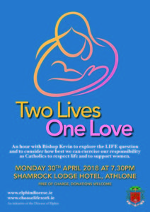 Two Lives, One Love - Information Evening with Bishop Kevin - Athlone @ Shamrock Lodge Hotel, Athlone | Athlone | County Westmeath | Ireland