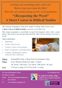 A Short Biblical Studies Course, Summerhill College, Sligo @ Summerhill College, Sligo