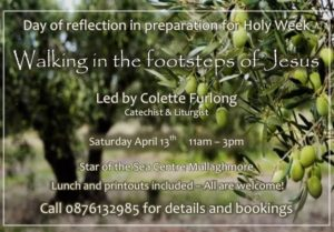 Day of Reflection in Preparation for Holy Week @ Star of the Sea Retreat Centre, Mullaghmore